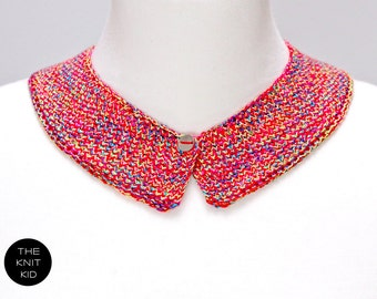 knitted collar neon mottled cotton theknitkid