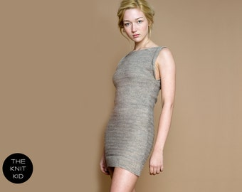 knit dress wool beige theknitkid
