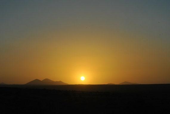 "Lanzarote Desert at Sunset Photograph 8x12"""