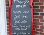 This particular frame is SOLD OUT, please see below -Framed Magnetic Chalkboard - Kitchen Menu Large - Eloise