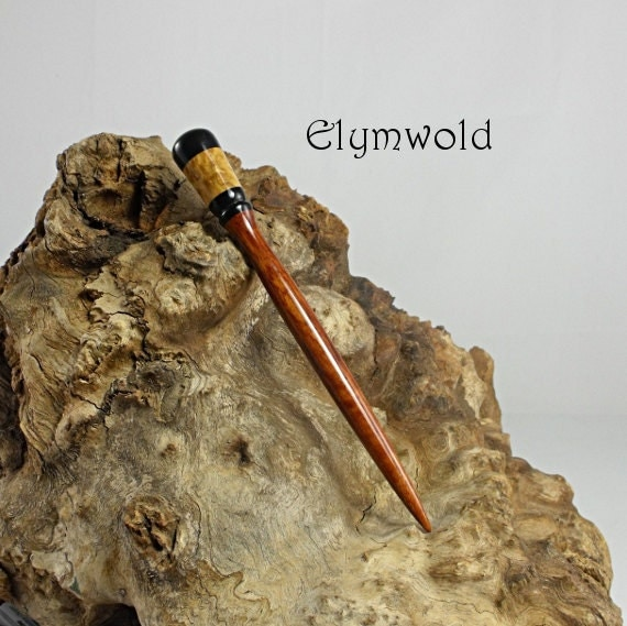Hair stick - handmade from flame sheoak and eucalyptus burl.