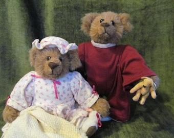 9'' Pajama Bear couple