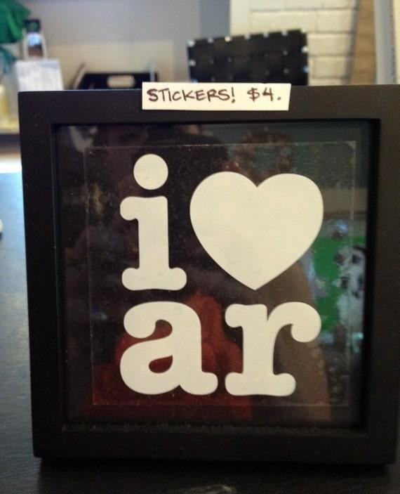 I heart AR Car stickers
