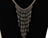 Silver Chandelier Style Choker Necklace