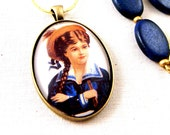 Nautical Jewelry, Blue, Sailor Girl Necklace, Summer Necklace