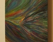 "ORIGINAL Art - Acrylic Painting on Canvas 24"" x 12"" x  1.5"" - ""Let It Flow"""