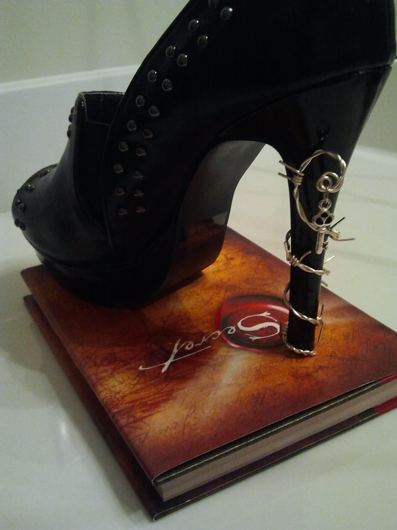 Barb wire shoe jewelry.