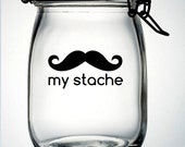 My Stache Mustache Moustache Vinyl Decal Sticker - DIY Do It Yourself - Fathers Day Gift Idea Birthday Party Wedding Baby Shower Favor