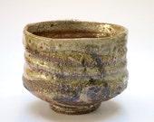 Wood fired shino glazed tea bowl