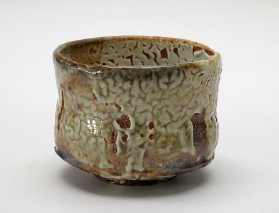 Shino glazed sake cup
