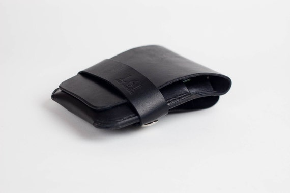Leather iPhone Wallet - iPhone Holster, Leather, Black