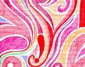 Single Blank Greeting Card Pink Love Heart