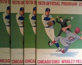 1979 Official Program Scorecard Chicago CUBS Wrigley Field 25 cents Lot of 3