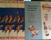 1978 Chicago Cubs Official Scorecard Program Batter Up On Front Lot of 5 Wrigley Field 25 cents