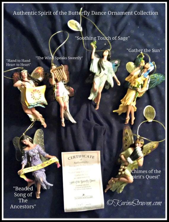 Ashton Drake Spirit of the Butterfly Dance Angel Ornament / Hanging Angel Ornaments