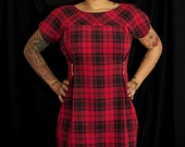 Alexander Mcqueen inspired plaid punk mod dress- - Size Medium