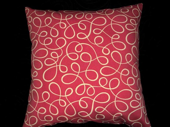 Decorative pillow cover 18x18 coral