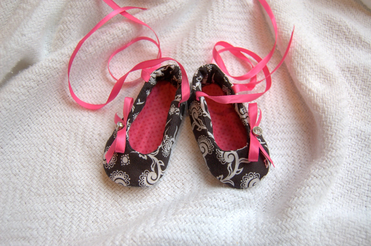 Baby Shoes Months Cotton Black White
