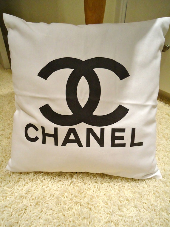 Chanel Leather Throw Pillow : Unavailable Listing on Etsy