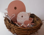 Pink Mom and Baby Bird Cake Topper