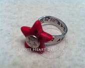 Rockstar Ring, Adjustable handstamped ring with attached star