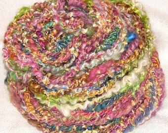 Handspun Bulky Art Yarn- Shazam
