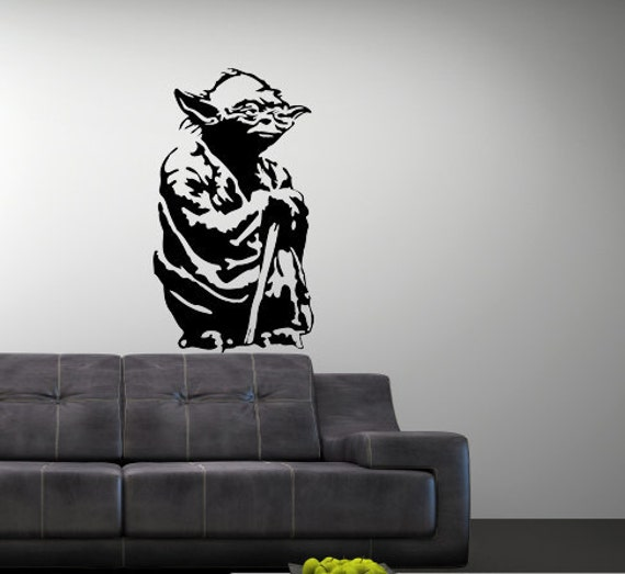 Items Similar To Vinyl Wall Art Decal Star Wars Yoda On Etsy Part 89