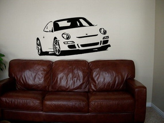 Large Graphic Sticker Vinyl Wall Decal Art Porsche By