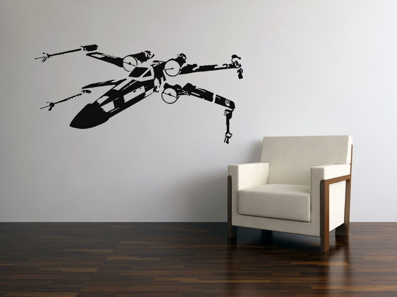 Star Wars X Wing Fighter Vinyl Wall Decal By Jl9design On Etsy