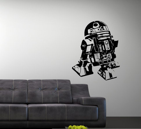 Star Wars R2d2 Art Vinyl Wall Art Decal Star Wars