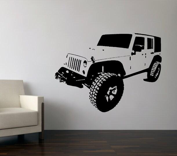 Wall Decal Custom Four Door Jeep
