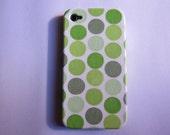 Green Polka dot iPhone 4 Case, iPhone 4s Case, iPhone 4 Hard Case, iPhone Case