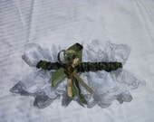 Camo and lace wedding or prom garter