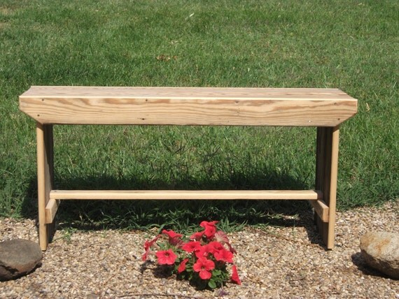 "Rustic handmade bench - size 35 x 10 x 17"""