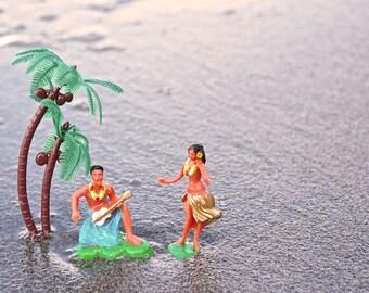 ACEO Hawaii Hula Palm Tree Beach Sand Water Photography