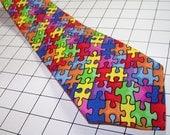 Autism Awareness Men's Tie