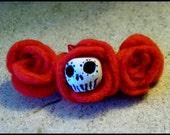 Sugar skull roses barrette