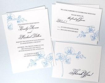 Orchid invitation Etsy