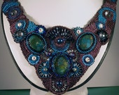 Bead Embroidery Collar Necklace, For the Queen in your life