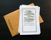 12 Pack Tree Ex Libris Letterpress Bookplate