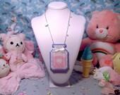 Strawberry Milk Jar Necklace