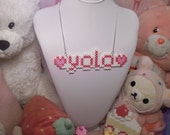 Pink YOLO Necklace