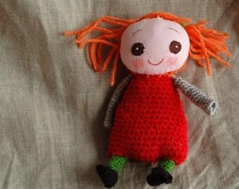 Tiny doll, handmade doll, amigurumi doll,Knit doll, baby doll