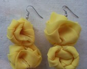 Yellow Blossum Earrings