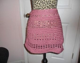 plum wine skirt