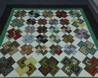 Noel Solitaire - Christmas Card Trick Quilt
