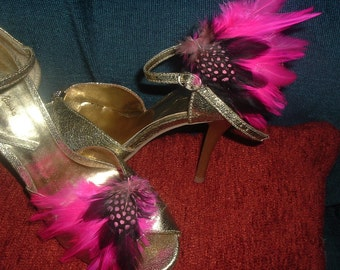 Choose your Color Feather Shoe Clips