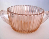 1940s - Queen Mary - Rose Depression Glass - Anchor Hocking - Open Sugar Dish