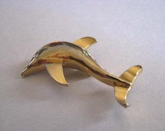 Vintage Brooch - Dolphin Brooch - Signed ERR or ERS