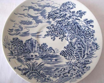 1950s - Wedgwood Saucer - Countryside Pattern